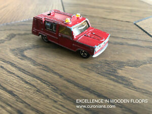 Majorette-Dodge-FIRE-ENGINE-Red-Van-France-DieCast-Scale-Model-1-80