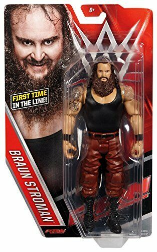 WWE brown STROWMAN BRAWN NXT MATTEL BASIC SERIES 64 WRESTLING ACTION FIGURE WWF