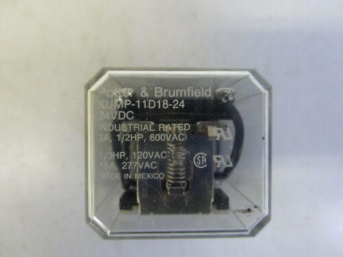 USED POTTER /& BRUMFIELD KUMP-11D18-24 24VDC RELAY FREE SHIPPING