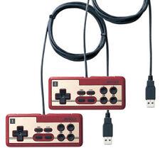 Lot of 2 pcs Buffalo Nintendo Famicom USB Gamepad Controller PC Wired iBuffalo r