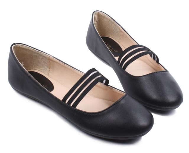 4 Color Nubuck Round Toe Causal Silp On Front Strap Womens Ballet Flats Size