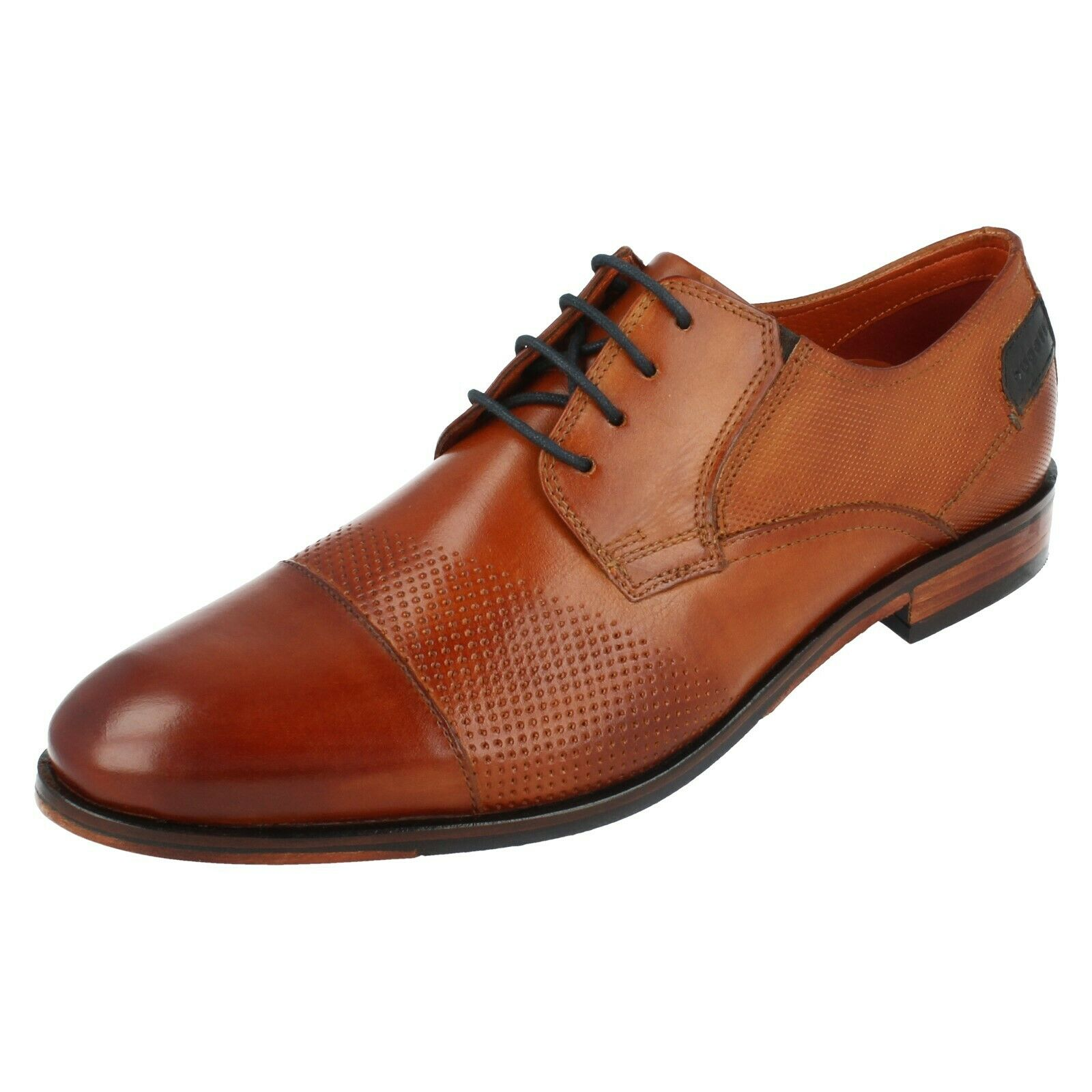 Mens 311-67701-1100 Cognac Leather Lace Up shoes By Bugatti