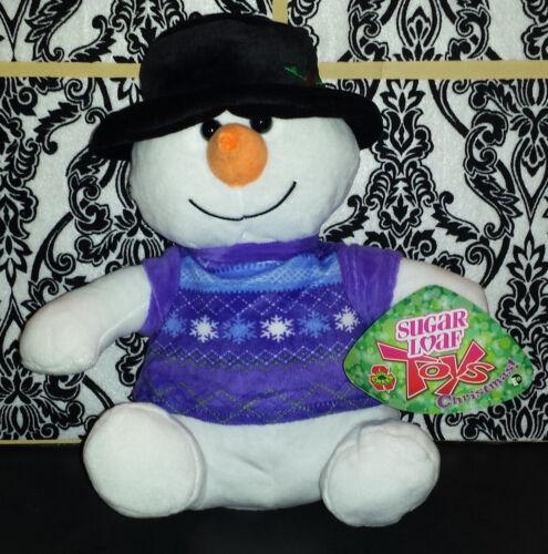 Sugar Loaf Plush 1 Christmas 2017 Kellytoy Snowman with Colorful Shirt