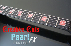 las vegas rolling dice red pearl fret marker inlay set sticker for bass guitar ebay. Black Bedroom Furniture Sets. Home Design Ideas
