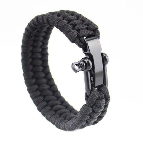 Survival Seil Paracord Armband Camping Wandern Stahl Sch kel Dankbar