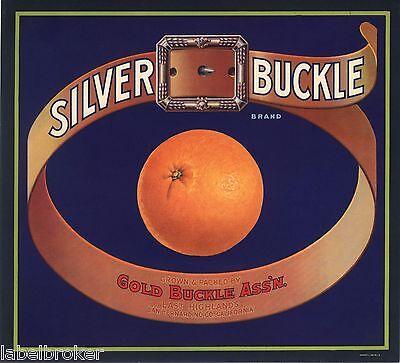 *Original* SILVER BUCKLE Western Belt East Highlands Orange Label NOT A COPY!