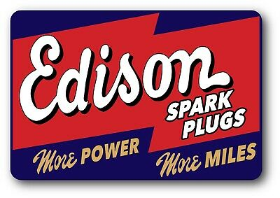 EDISON CHAMPION SPARK PLUG VINTAGE HOT ROD STICKER DECAL SPEED SHOP RACING