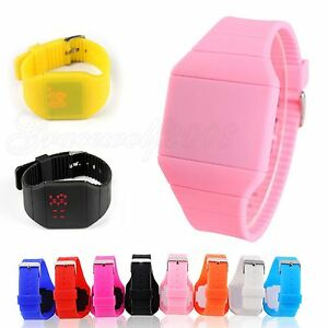 Men-Women-Sports-Touch-Square-Dial-LED-Rubber-Silicone-Digital-Bracelet-Watches
