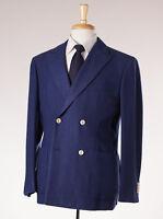 $4495 D'avenza Royal Navy Blue 100% Cashmere Jersey Blazer 40 R Sport Coat on sale