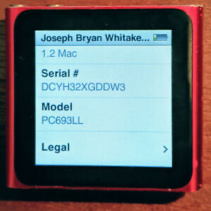 Apple Ipod Nano 6th Generation Red 8 Gb Ebay