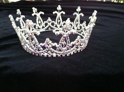 "Crown Full Round Austrian Crystal Crown  3 1.4 "" Diameter  Base"