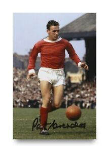 Pat-Crerand-Signed-6x4-Photo-Manchester-United-Scotland-Genuine-Autograph-COA
