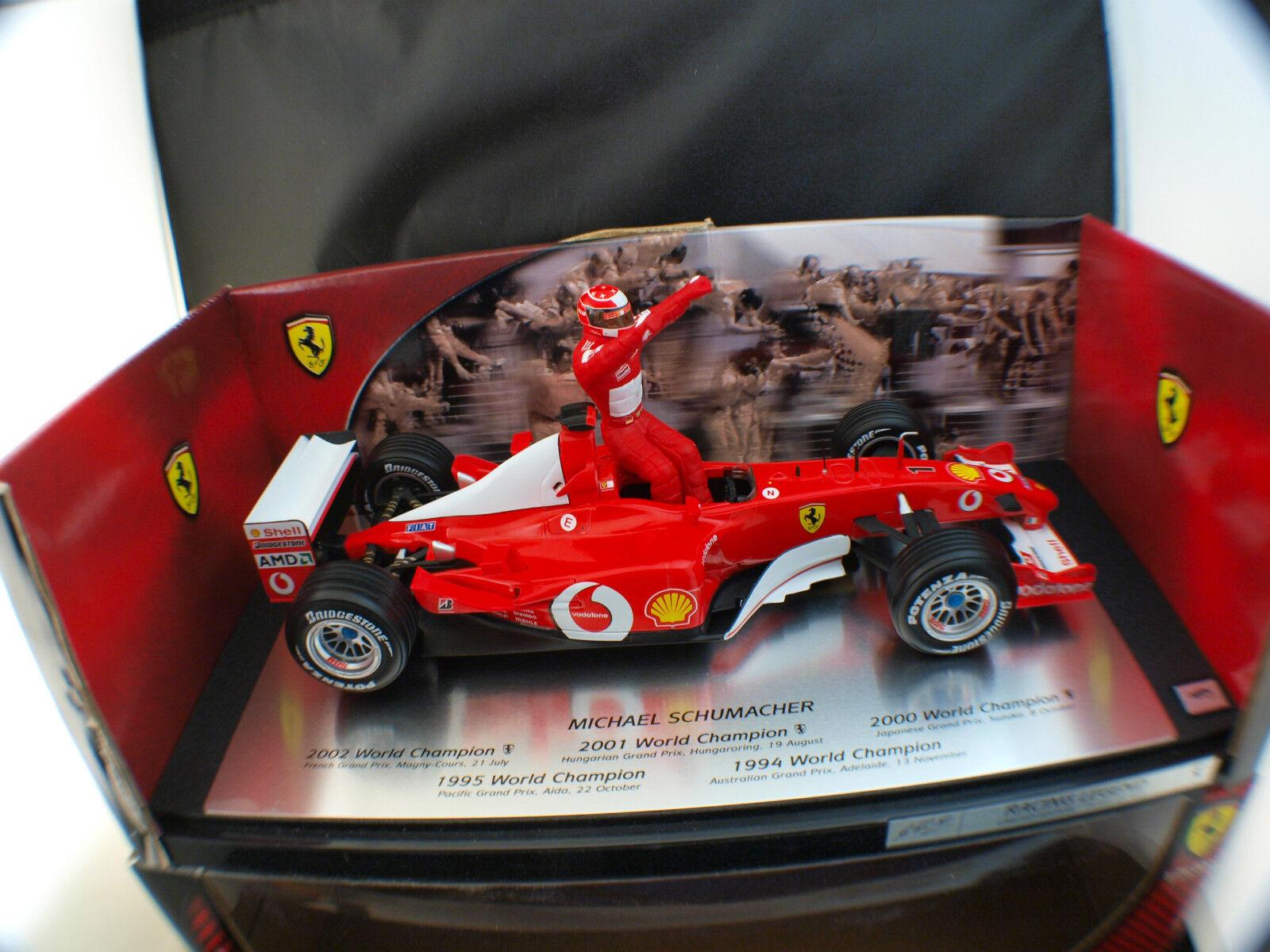 Mattel Hot Wheels Schumacher 2001 Word Champion Ferrari 1 18 Caja  Caja MIB