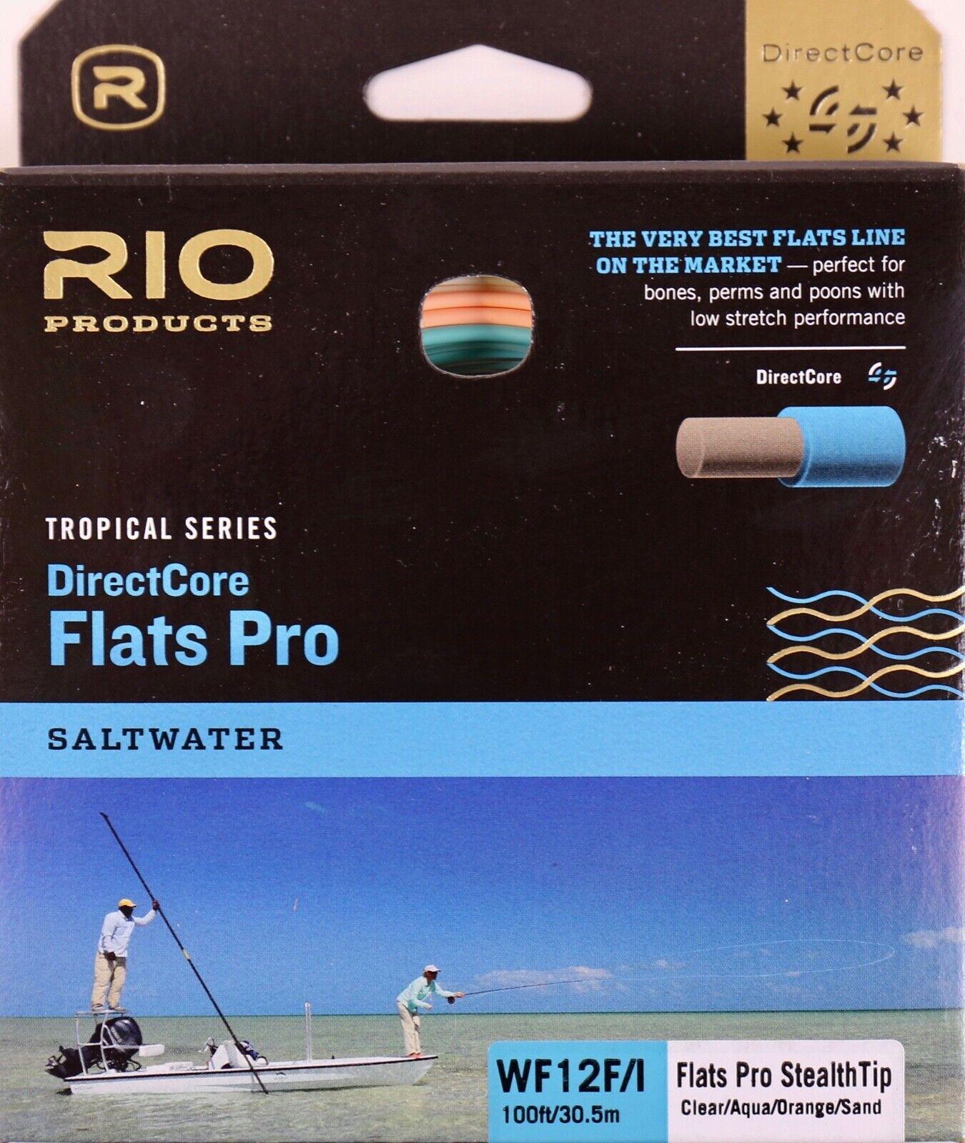 Rio Flats Pro Stealth Tip DirectCore WF12FI Fly Line Clear Aqua arancia 620159