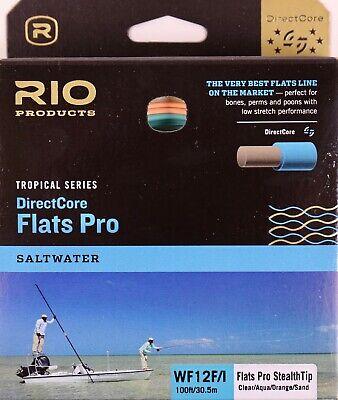 Rio DirectCore Flats Pro Stealth Tip Fly Line Clear//Aqua//Orange//Sand