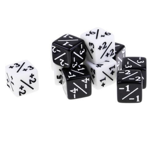 Acryl Würfel Familie Set 16mm Sechsseitige Würfel für Tisch Spiel Schwarz