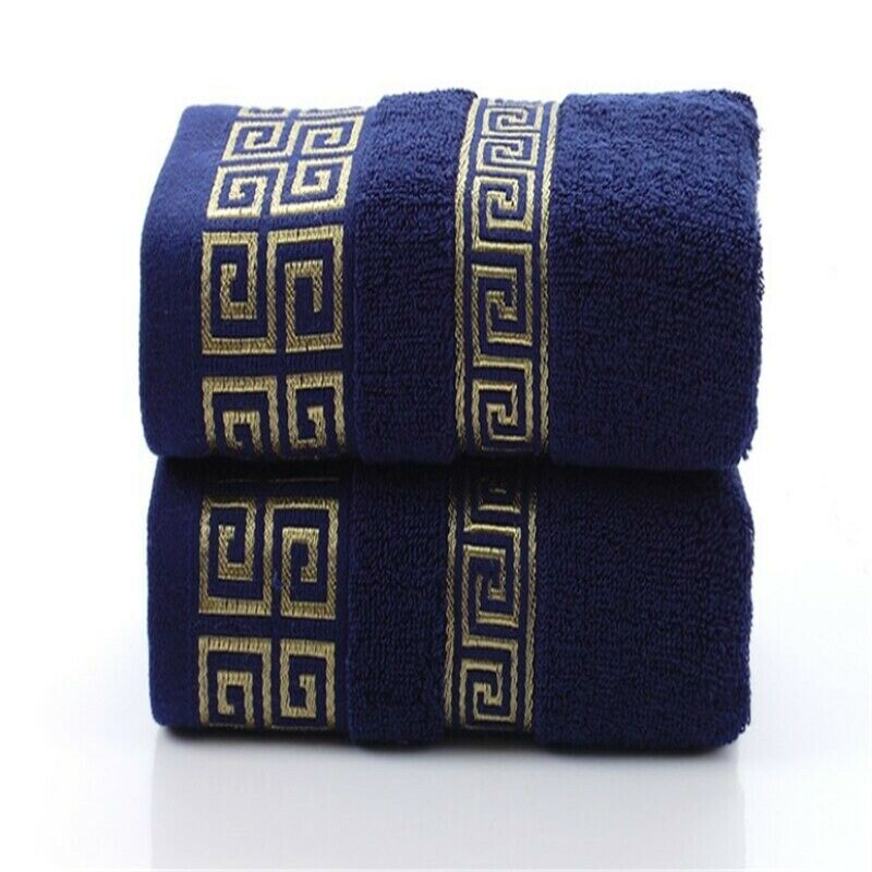 Pure Cotton Towel 34x75cm Embroidered Beach Bath Quick-Dry Soft Face Towel Adult