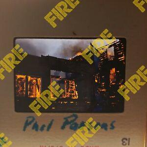 Vintage 35mm Slides - house burning down FIRE truck - 1959 - Lot of 13