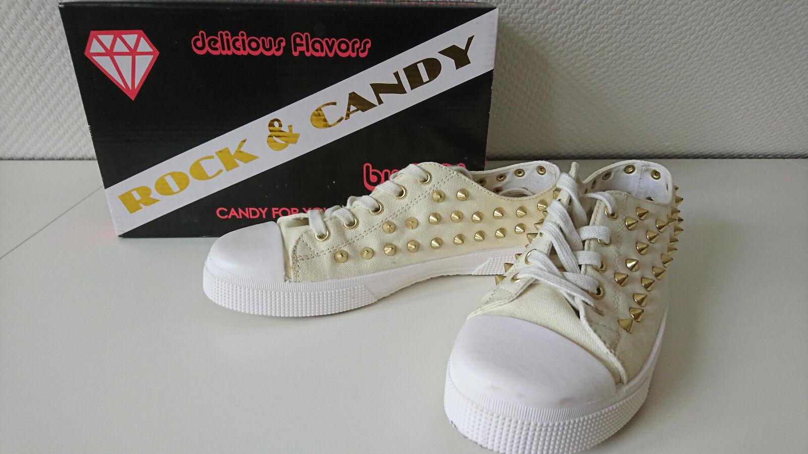 ASOS Neuw. Rock & Candy Gr 40 Nieten Studs gelb Chucks sneaker blogger trend