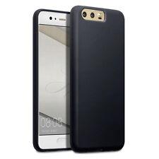Huawei P10 de alto impacto resistente cáscara flexible de TPU Gel De Silicona Parachoques Delgado Negro