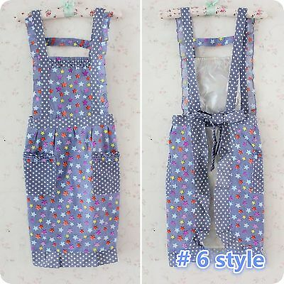 New 7 Styles Women Lady Home Kitchen Bib with Pockets Aprons, 100%cotton