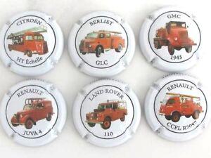 Série de 6 . capsules Champ. VEHICULES DE POMPIERS 4MApul0y-09113536-406011075