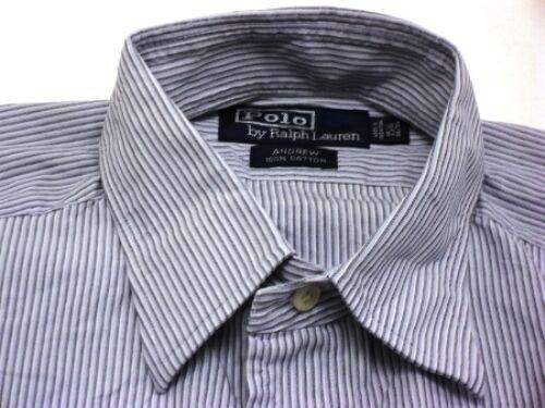 Ralph Lauren Andrew Hemd Herren Langarm Blau Gestreift Baumwolle Gr. M   15   | Online-verkauf  | Hohe Qualität Und Geringen Overhead  | Schönes Aussehen