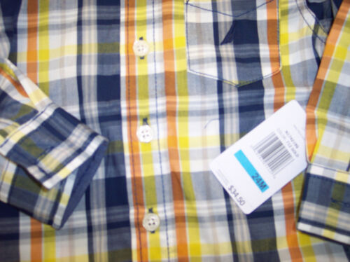 Infant /& Boys Nautica $34.50-$39.50 Navy Plaid Shirt Sizes 12mo-18//20 Toddler