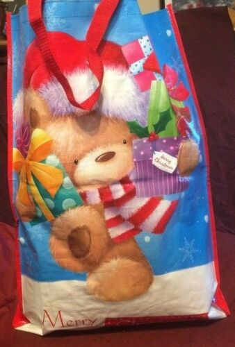 45CM X 35CM CHRISTMAS SHOPPING TOTE BAG SANTA DESIGN