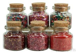 Medley-Glitters-Set-of-Corked-Jars-311-M-0605-German-Glass-Glitter