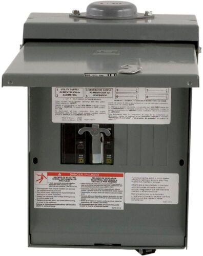 QO 30Amp 4-Space 8-Circuit Generator Main Breaker Outdoor Manual Transfer Switch