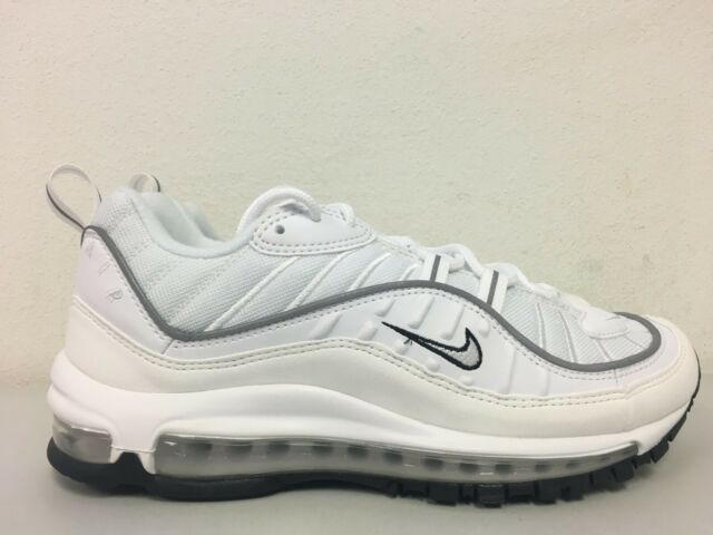 00d8d62db2 Nike Womens Air Max 98 White Reflect Silver Ah6799 103 Size 10 for ...