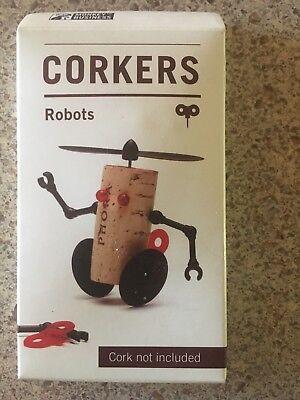 Corkers ROBOTS Luke Wine Cork Characters Decoratiions Novelty Gift Fun