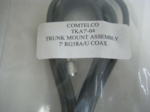 10x COMTELCO TKA7/'-04 Trunk Mount Antenna Cable 7/' RG58A//U COAX w// UHF Connector