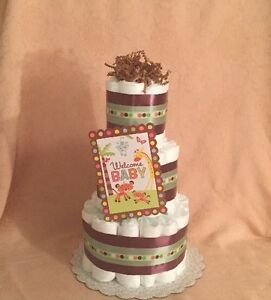 Image Is Loading 3 Tier Diaper Cake Fisher Price Welcome Baby