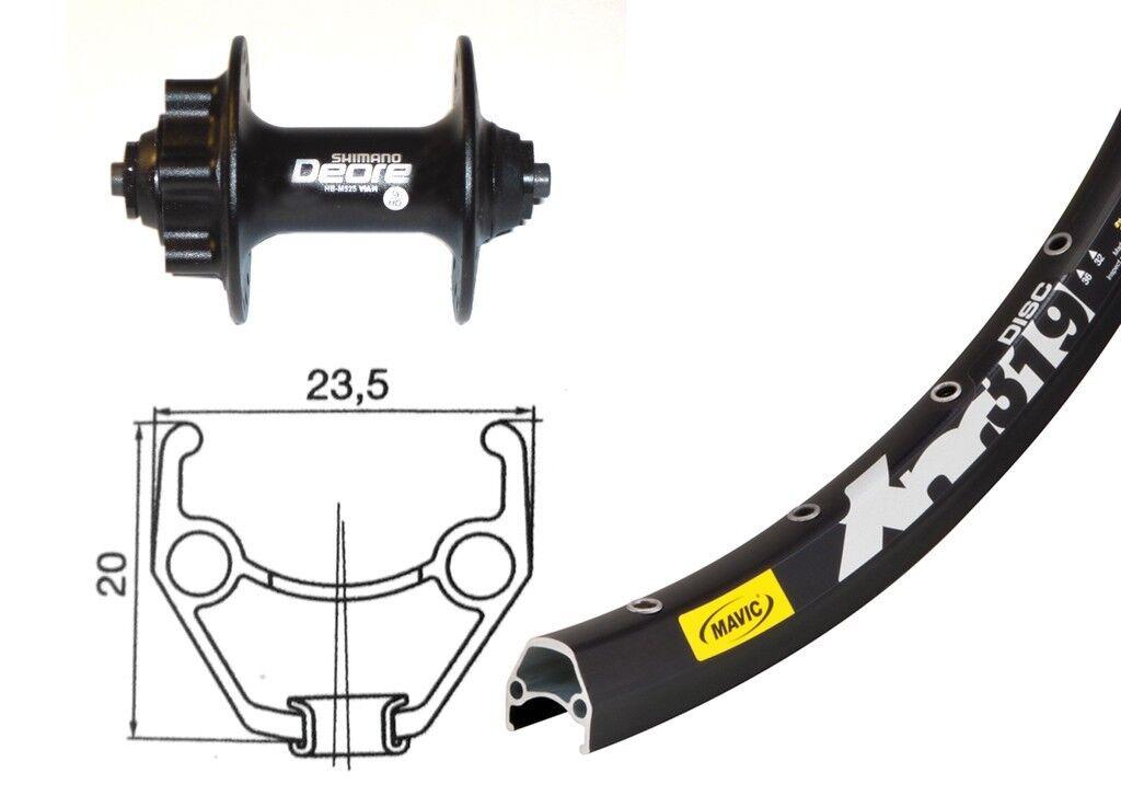Bike-Parts 26″ Vorderrad Mavic XM 319 Disc + Shimano Deore 6-Loch