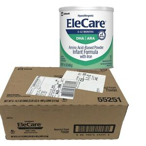 EleCare Infant Formula Hypoallergenic Powder 1 case 6 Cans ...