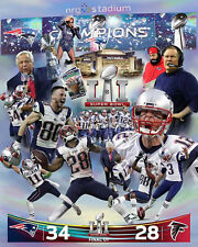 New England Patriots HEAVEN IN HOUSTON Super Bowl LI Champs Premium Poster Print