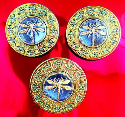 UNIQUE! LADYBUG!!!! 3 Czech Vaseline!!! Crystal Glass Buttons #D818-27 mm