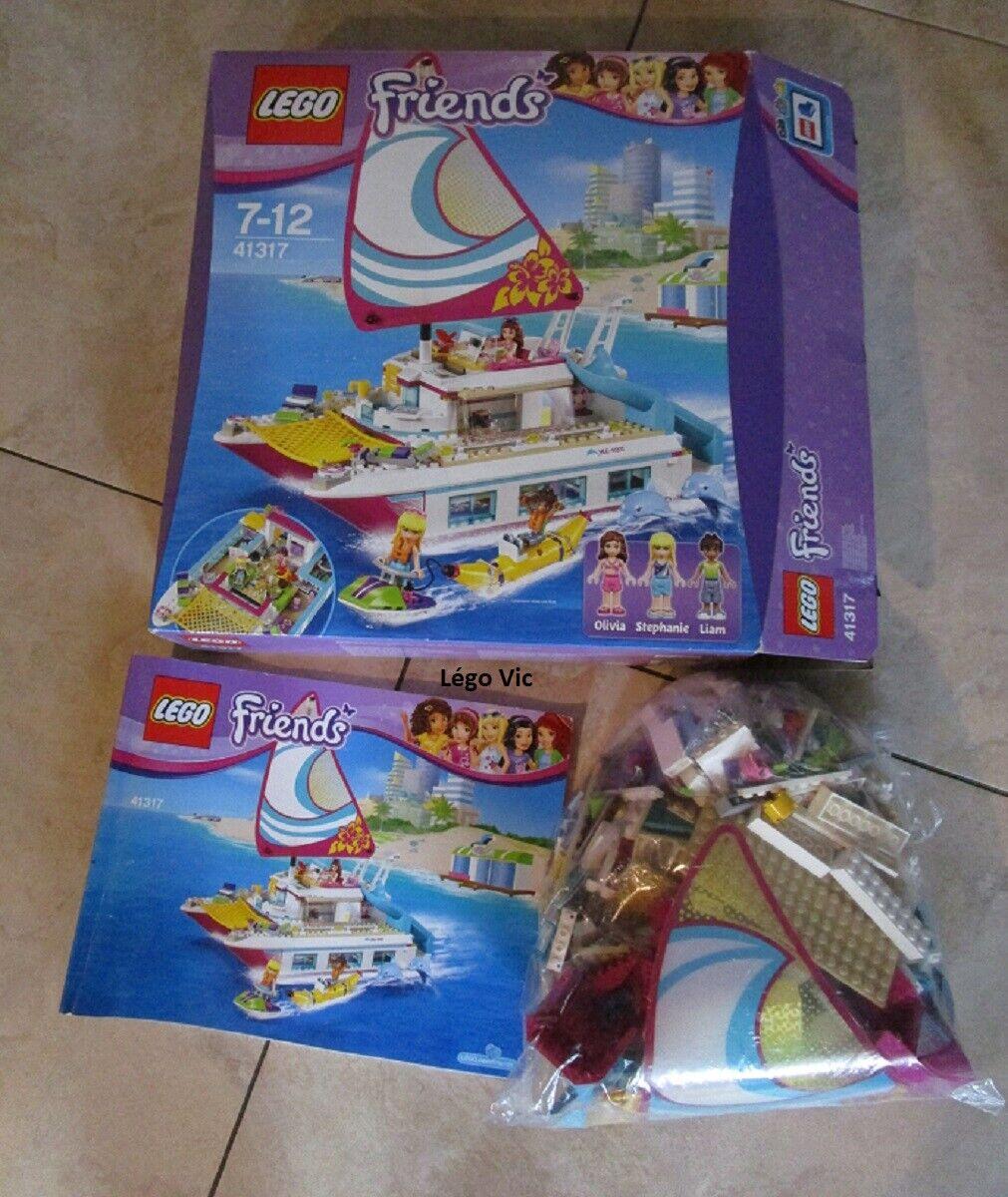 Lego 41317 Friends Sunshine Catamaran Vacances Mer Dauphin Notice Boite CNB49