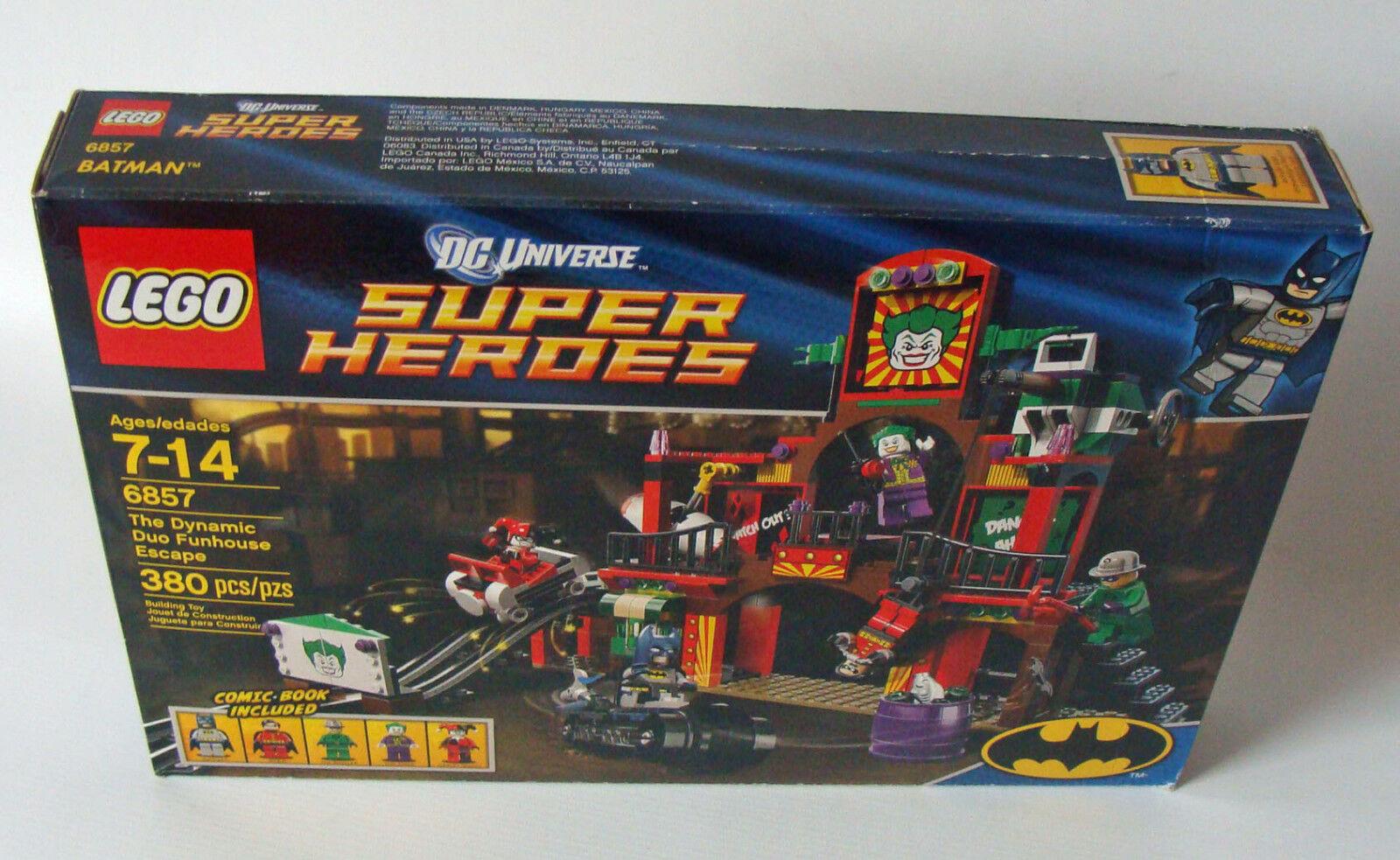 LEGO ® SUPER HEROES 6857 The Dynamic Duo Funhouse Escape 380 T. 7-14 anni NUOVO