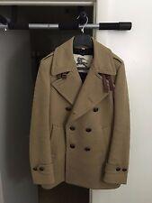 Authentic BURBERRY LONDON Men's Wool Pea Coat Euro Size 48 US Sz 38