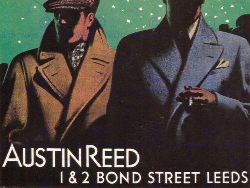 ADVERTISEMENT AUSTIN REED BOND STREET LEEDS YORKSHIRE ART PRINT POSTER BB7232