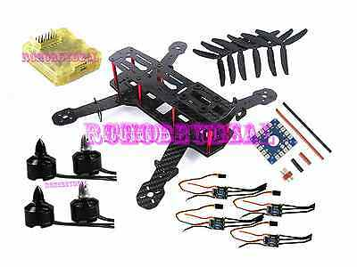Carbon Glass Fiber Mini ZMR250 DIY Quadcopter Kit & RHD 1806 Brushless Motor