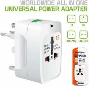 International World Wide Universal Travel Plug Multi Charger Adapter 2 USB PORT