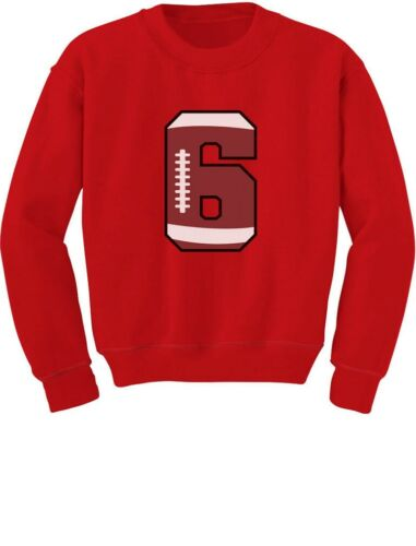 Gift For 6 Year Old 6th Birthday Football Youth Kids Sweatshirt Bday