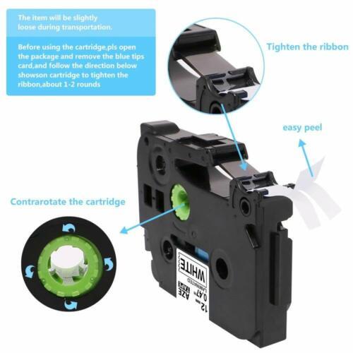 5 PK color TZe-231 431 531 631 731 Compatible Brother Label Tape TZ PT-D210 12mm