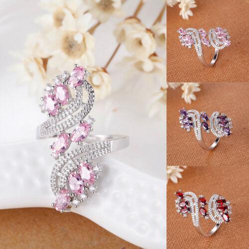 Damen Charm Kristall Zirkon Fingerring Ehering Damenring Gold Ringe Hochzeit Neu