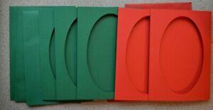 5-Doble-Plegables-Rojo-y-Verde-Tarjeta-Blanks-128x178mm-Con-921x153mm-Abertura