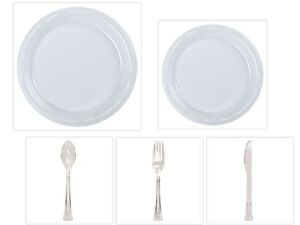 Image is loading Disposable-Clear-10-034-&-7-034-Plastic-  sc 1 st  eBay & Disposable Clear 10\